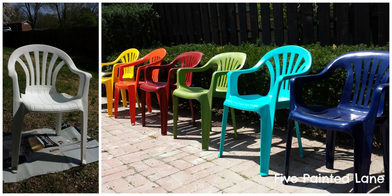 Do You Have White Plastic Patio Chairs This Is An Easy Way To Add Color To Y