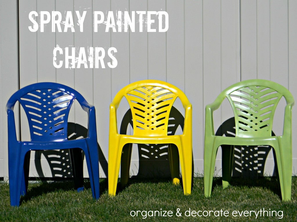 This Really Nice Lady Named Leanne Over At  Http://organizeyourstuffnow.com/wordpress/colorful Outdoor Chairs Spray  Painted Some Chairs Too. Part 79